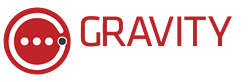 Gravity Logo Horizontal - Red-White - No Tagline