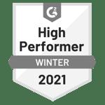 G2-2021-Winter-HighPerformer-Badge-grayscale400x400