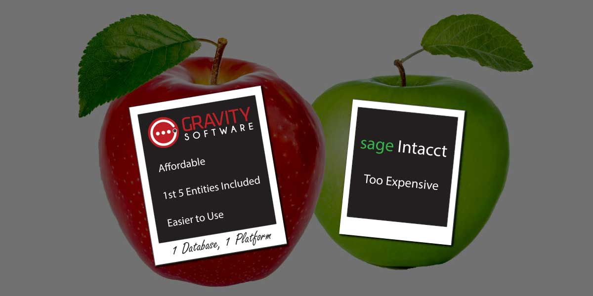 Looking at Sage Intacct Cloud Financials? Take a Look at Gravity!
